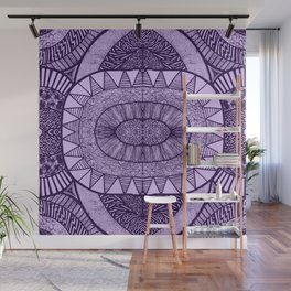 Grape Tangled Mania Pattern Doodle Design Wall Mural