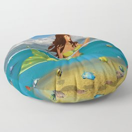 The Mermaid Floor Pillow