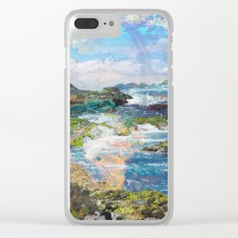 Coastlines Clear iPhone Case
