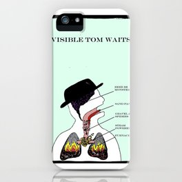 VISIBLE TOM WAITS iPhone Case