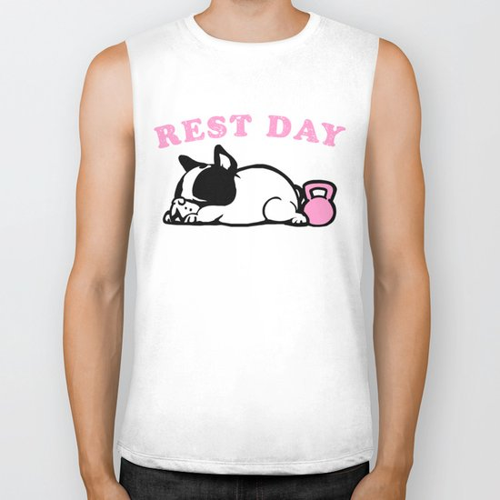 Rest Day Frenchie Biker Tank