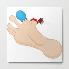 Paul Bunion & Babe The Big Blue Toe Metal Print