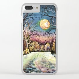 Silent night in Sweden Clear iPhone Case