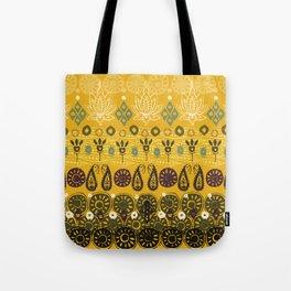 lotus block vintage gold Tote Bag