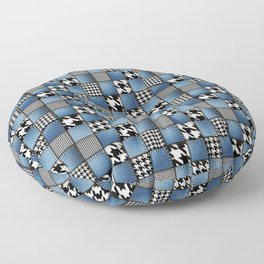 Mixed Denim Patchwork Floor Pillow