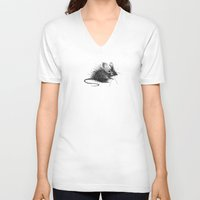 mouse V-neck T-shirts featuring mouse by Gemma Tegelaers