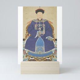 An Ancestor Portrait of an Official - Chinese, 19th century - Scroll painting - Mandarin Court Mini Art Print
