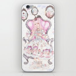 Cat's Tea Party Watercolor Painting iPhone Skin