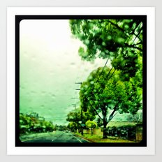 A rainy day in Orange County. Art Print