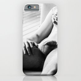 Male Relaxed with Drink iPhone Case