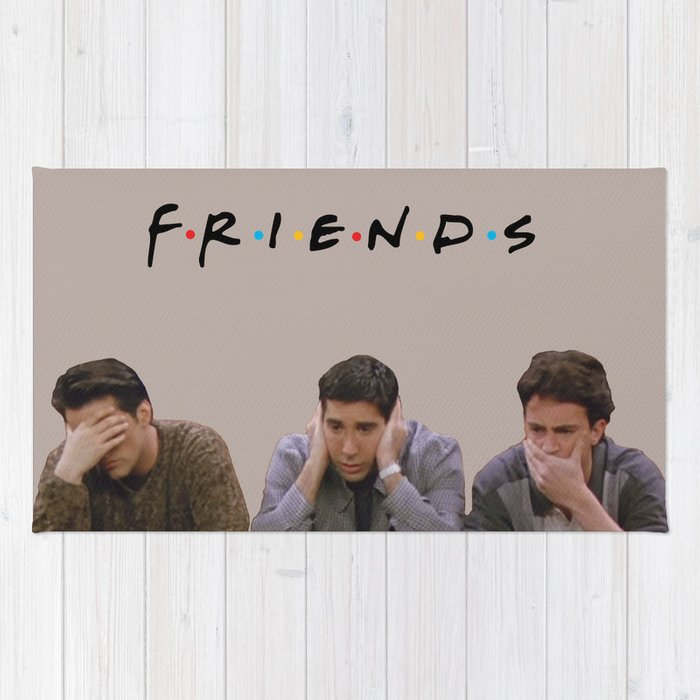 The One with Joey, Ross and Chandler face's. Rug