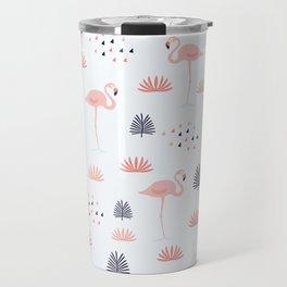Minimal Flamingo Travel Mug