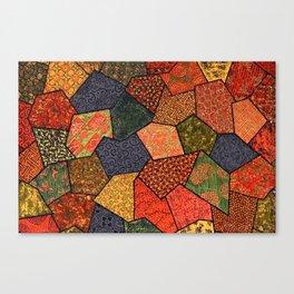 Japanese colorful quilt patchwork Canvas Print