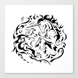 Lion vs Unicorn Canvas Print