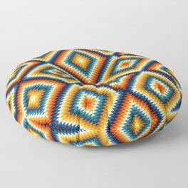 Colorful aztec diamonds pattern Floor Pillow