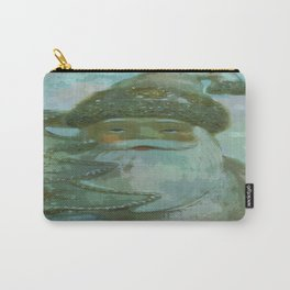 Vintage Santa - Painterly Carry-All Pouch