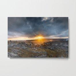 Sunrise Inishmore Aran Islands Ireland Metal Print