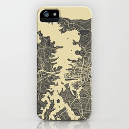 Sydney map yellow iPhone Case