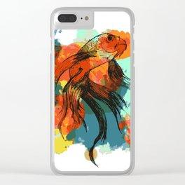 Splatter koi fish Clear iPhone Case