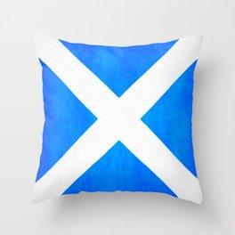 Vintage Scottish Flag - The Saltire Throw Pillow