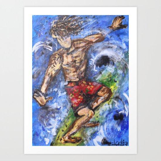 Surfer Dude Art Print