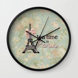 Tea Time in Paris Wall Clock