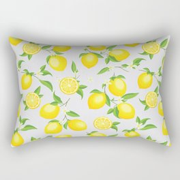 You're the Zest - Lemons on White Rectangular Pillow