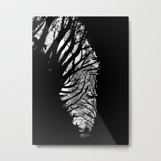 Nature Stripes Metal Print