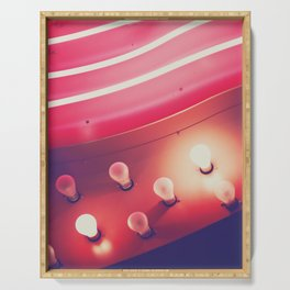 Pink Neon Glow Serving Tray