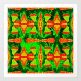 Breeze Block green Art Print