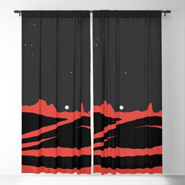 Black Dunes Blackout Curtain