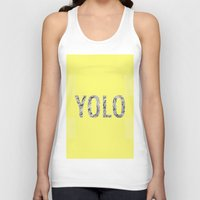 yolo Tank Tops featuring yolo by terezamc.