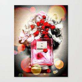 Eau de Parfum Pink Canvas Print