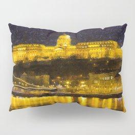 Budapest Chain Bridge And Castle Art Pillow Sham
