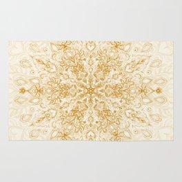 Sepia Snowflake Doodle Rug