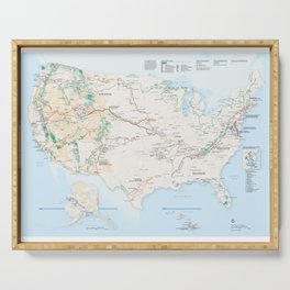National Parks Trail Map Serving Tray