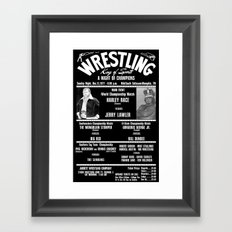 #2-B Memphis Wrestling Window Card Framed Art Print