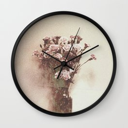 Abstract Vintage Flowers Wall Clock