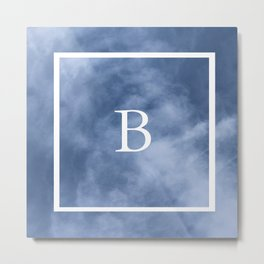 B in the clouds Metal Print