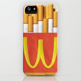 Unhappy Meal iPhone Case