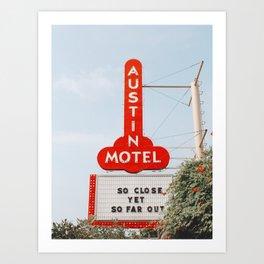 Austin Motel Sign, Austin, Texas Art Print