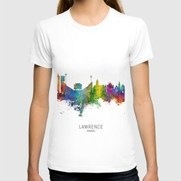 Lawrence Kansas Skyline T-shirt