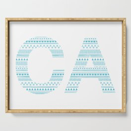 Typographic CA - Cyan Serving Tray