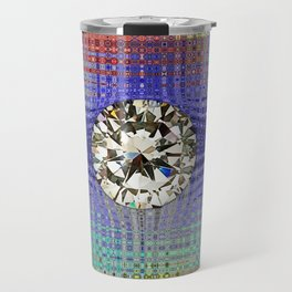 Diamond in Multi-Coulors Travel Mug