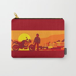 Bikers sunset pause Carry-All Pouch