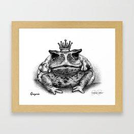 GREGORIO Frog Prince Print Framed Art Print