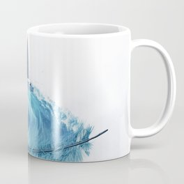 Water Feather • Blue Feather (horizontal) Coffee Mug