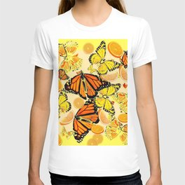 YELLOW MONARCH BUTTERFLY  & ORANGES MARMALADE T-shirt
