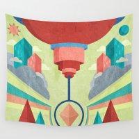 chandelier Wall Tapestries featuring Chandelier by MattBlanksArt