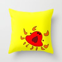 crab Throw Pillows featuring Crab by Happy Fish Gallery